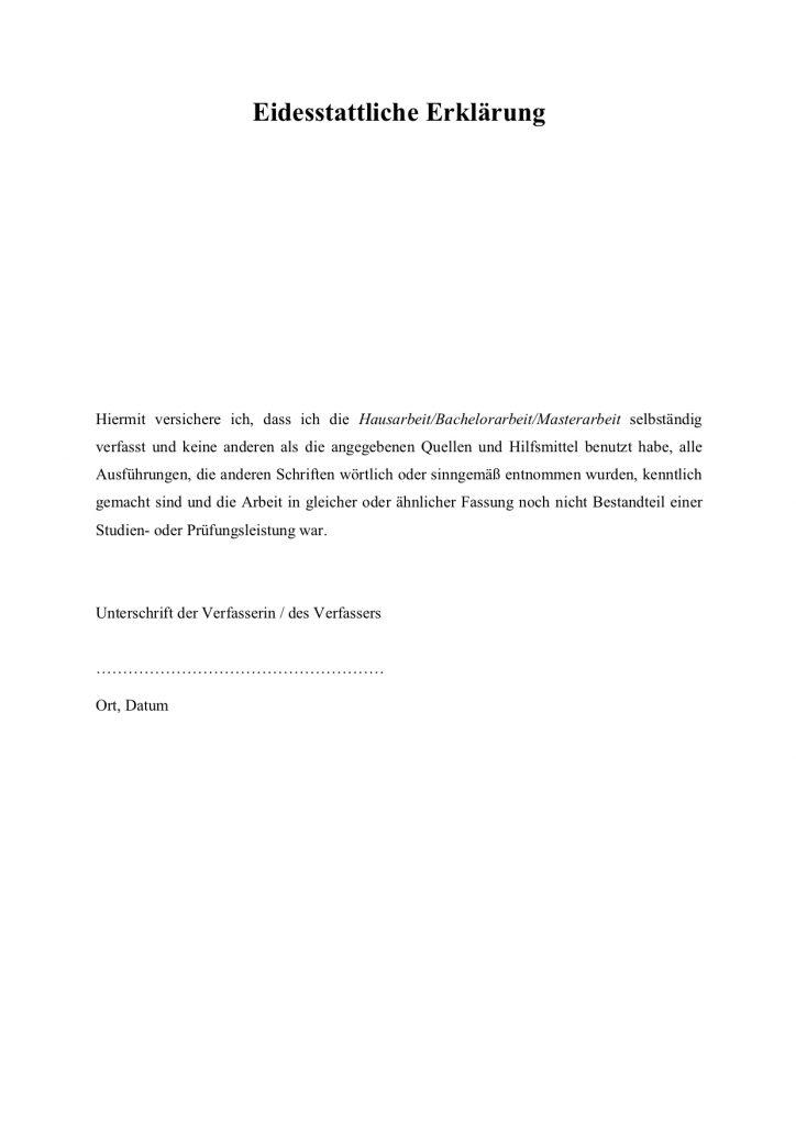 Erklärung ledigkeit muster eidesstattliche Eidesstattliche Erklärung